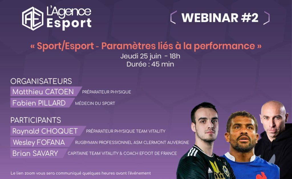 Webinar de L'Agence Esport - performance dans le sport et l'esport