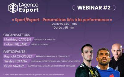 Webinar Sport et Esport : les paramètres clés de la performance