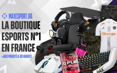 MaxEsport, la plateforme e-commerce n°1 de l'esport en France