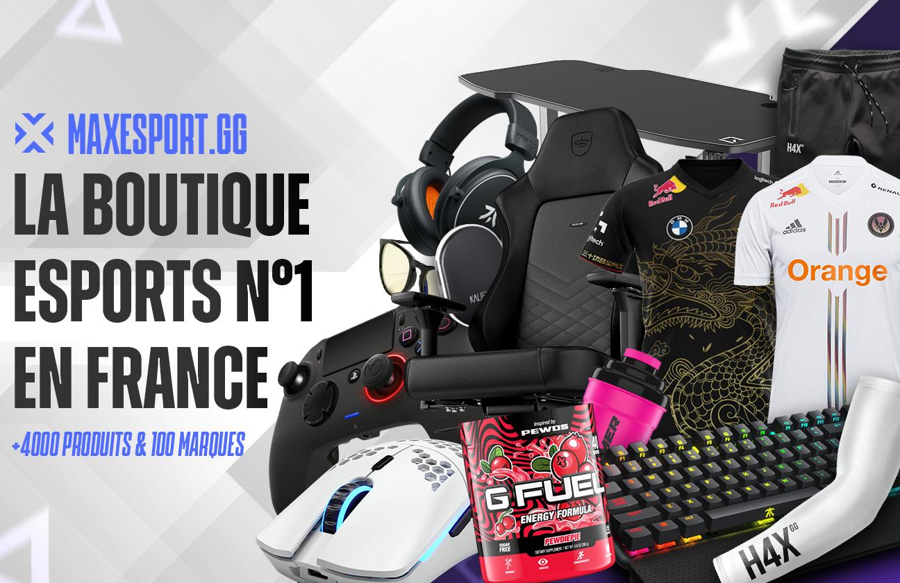 MaxEsport.gg spécialiste du e-commerce spécialisée gaming